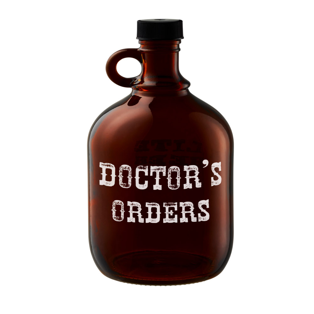 "Artland Barkeep 64 Ounce ""Doctor's Orders"" Beer Growler"