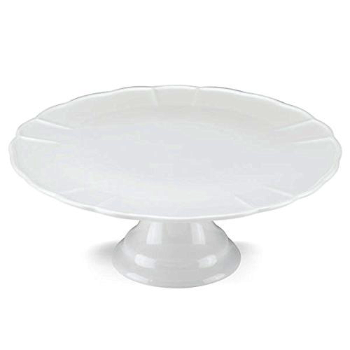The French Chefs Maria Porcelain White 11 Inch Cake Stand