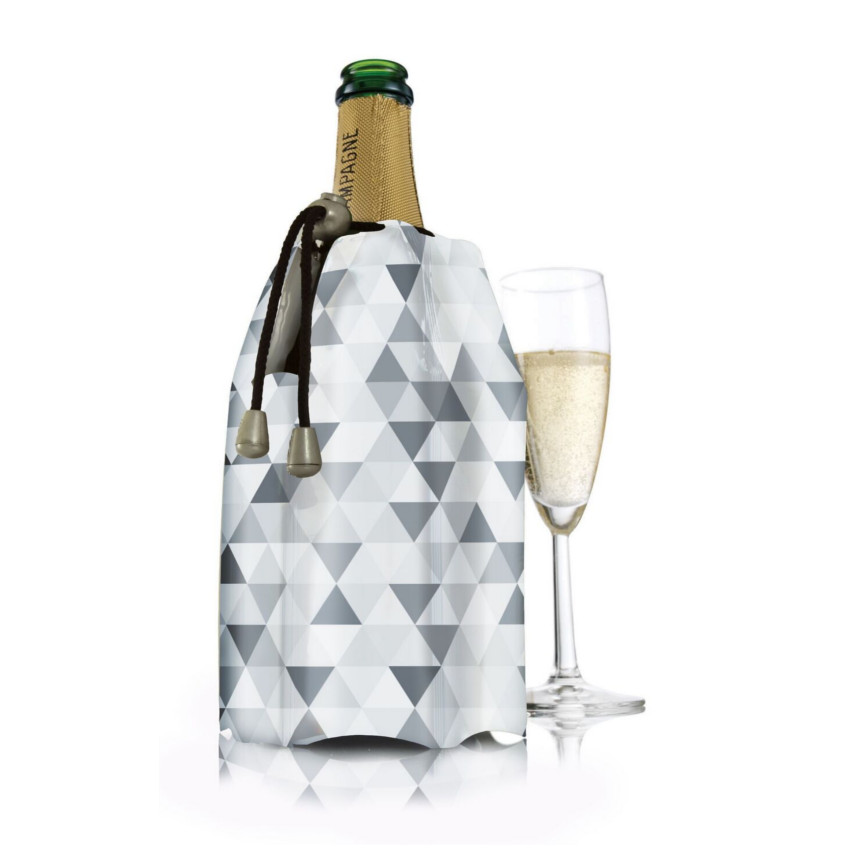 VacuVin Diamond Gray Champagne Active Cooler