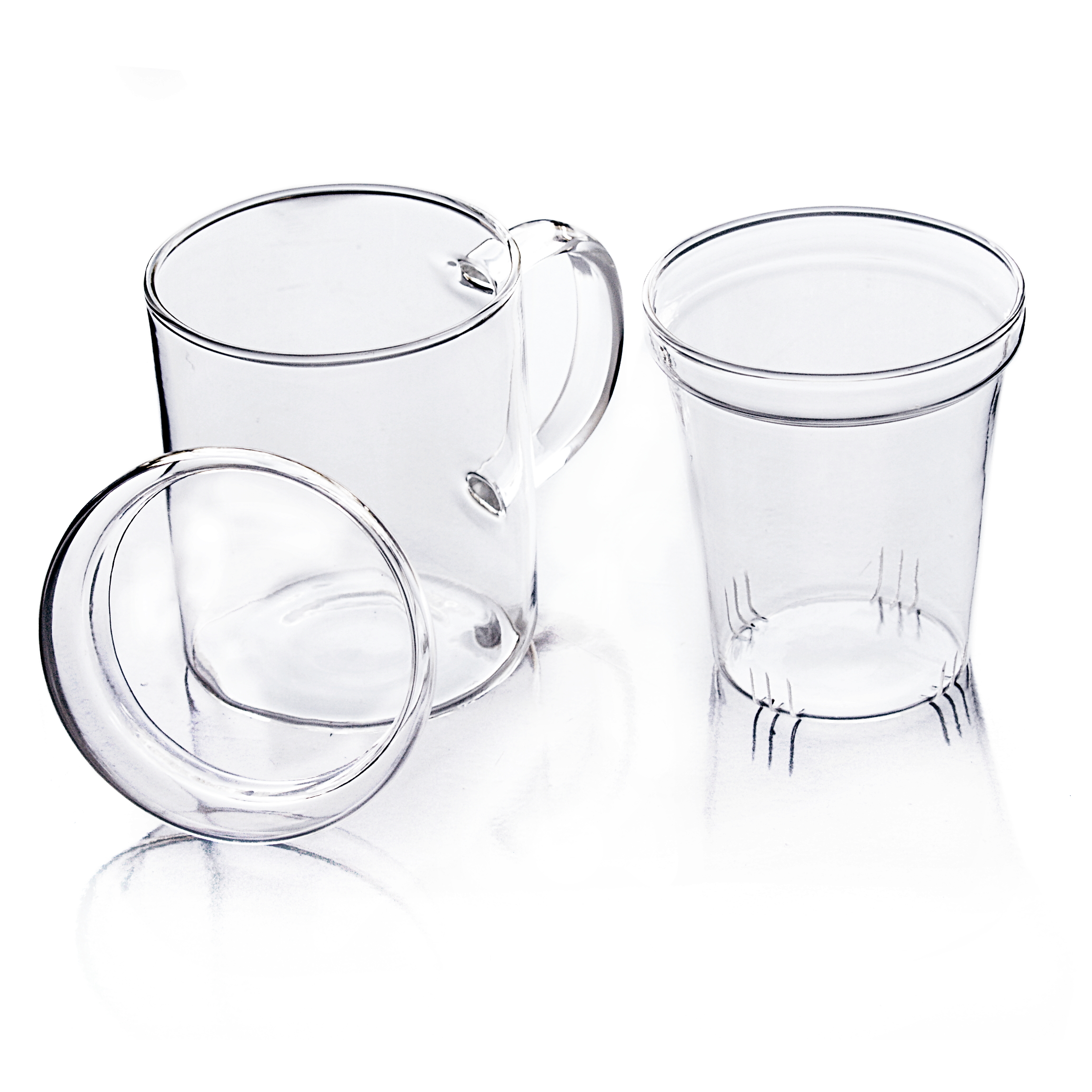 Heat Resistant 10 Ounce Glass Teacup with Infuser