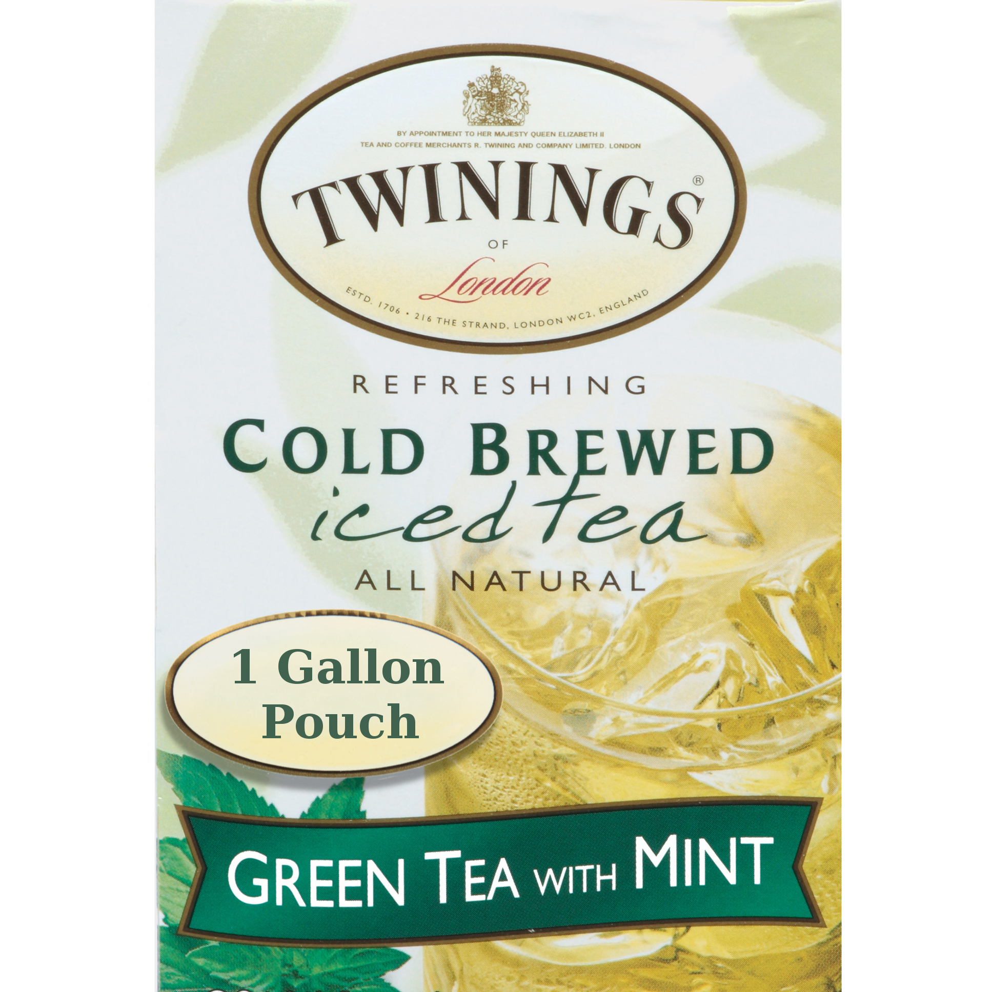Twinings Iced Tea Beverage Dispenser with 24 Green Tea with Mint Cold Brew Iced Tea Bags