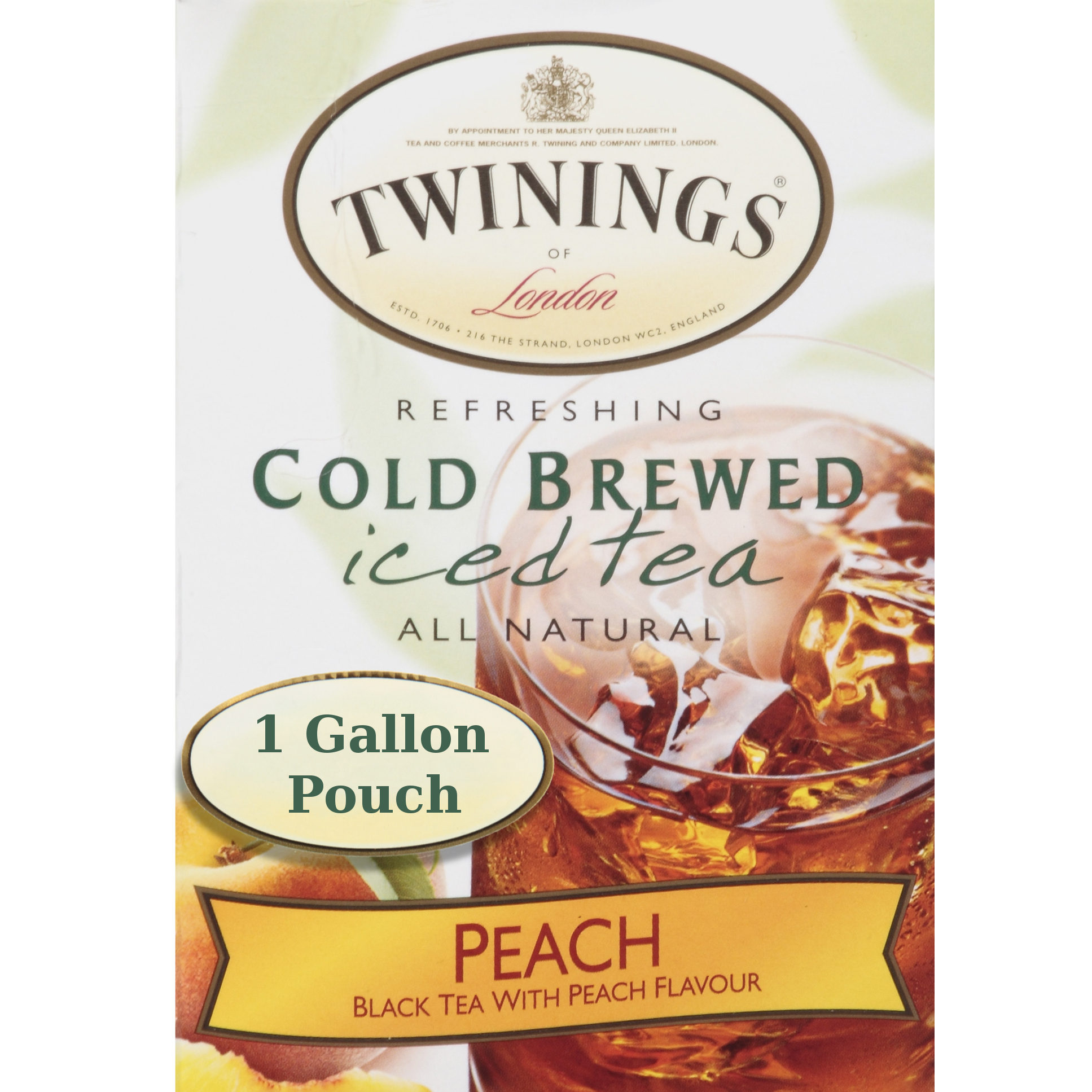Twinings Iced Tea Beverage Dispenser with 24 Count Peach Cold Brew Iced Tea Bags