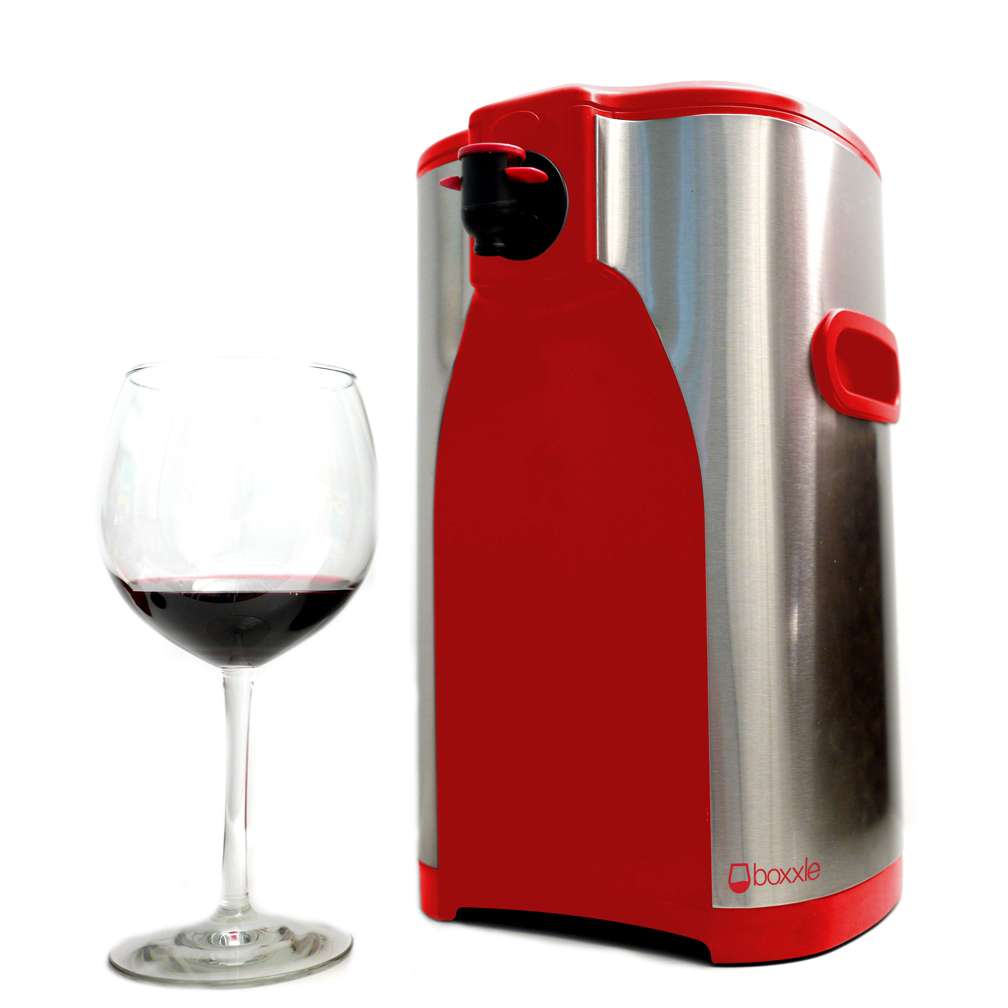 Boxxle Box Red and Stainless Steel 3 Liter Box Wine Dispenser
