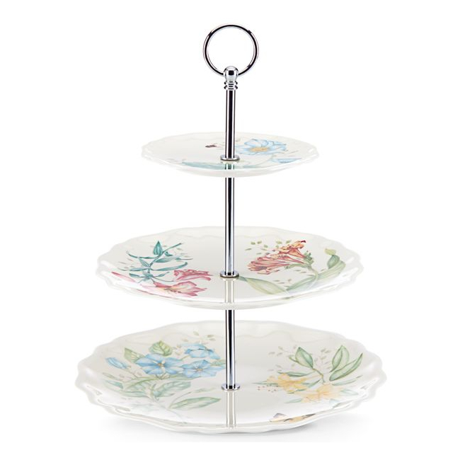 Lenox Butterfly Meadow Melamine 12.5 Inch 3-Tiered Server