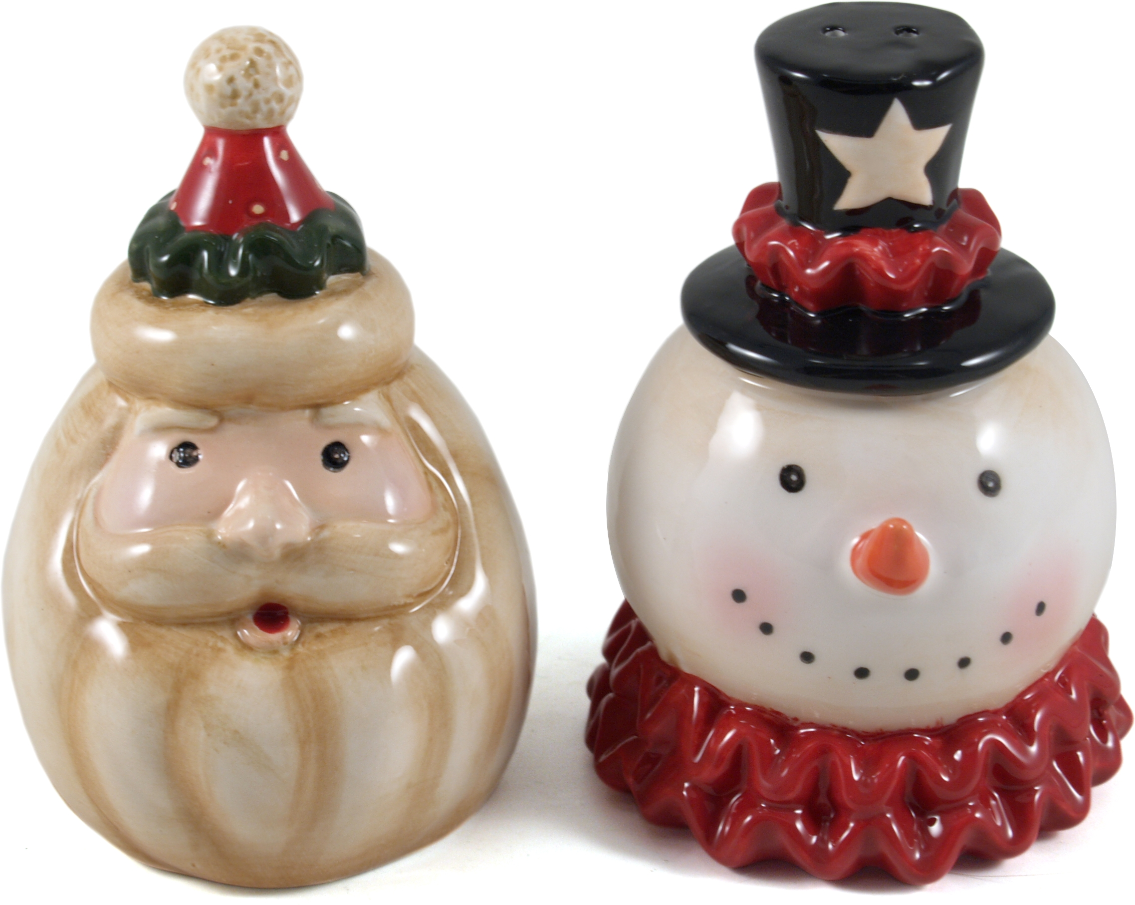 Vintage Look Santa/Snowman Salt & Pepper Set