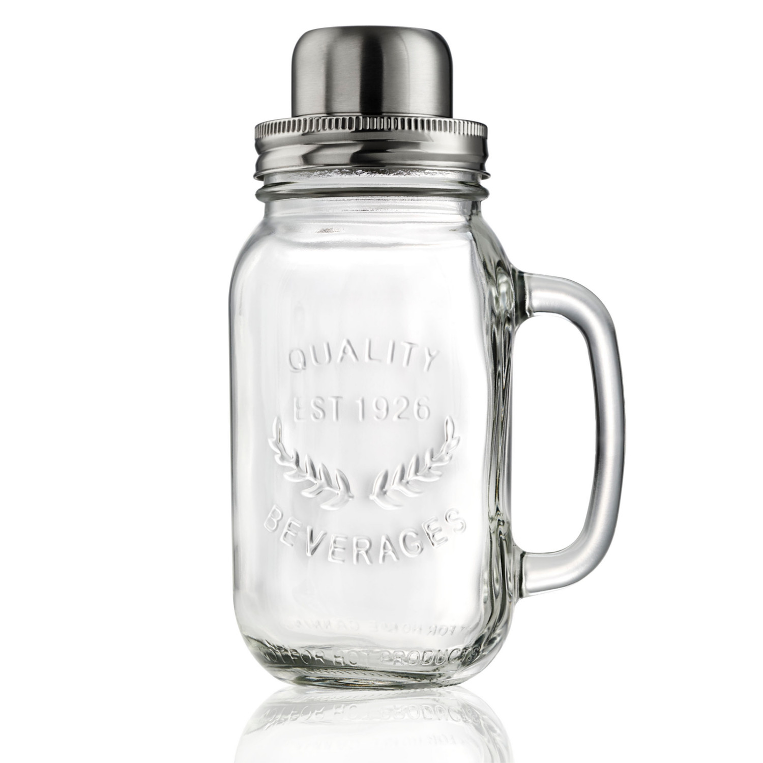 Artland Masonware Glass and Stainless Steel 22 Ounce Cocktail Shaker