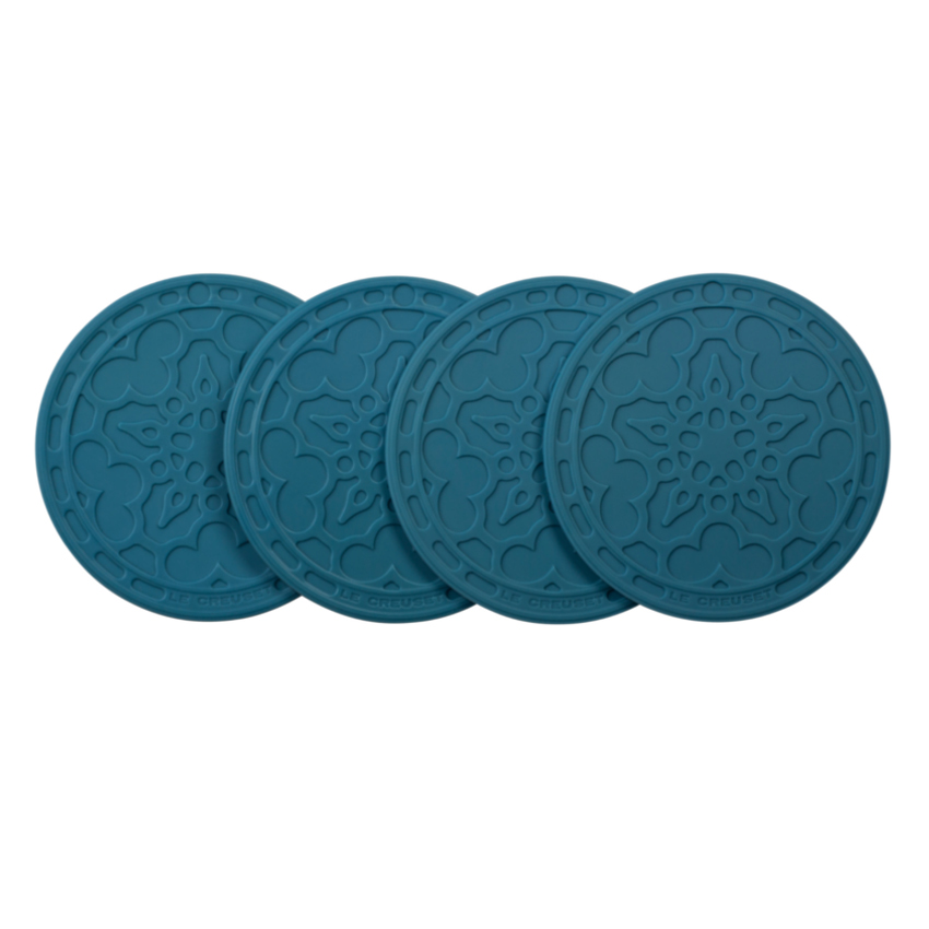 Le Creuset Marine Silicone French Coaster, Set of 4