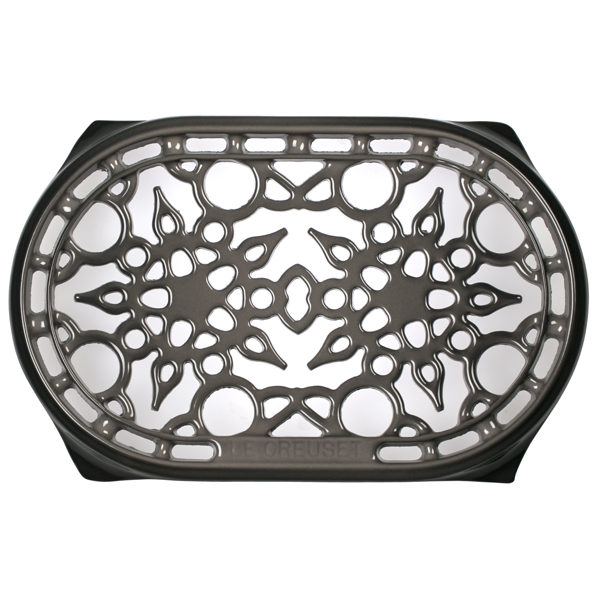Le Creuset Oyster Enameled Cast Iron 10.5 Inch Oval Trivet