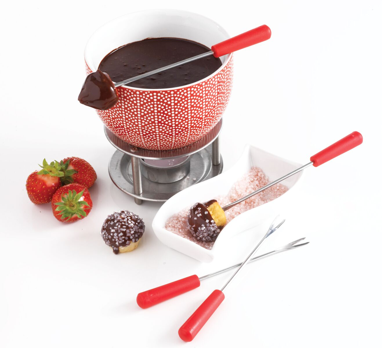 Chocolate Fondue Set - Little Hearts