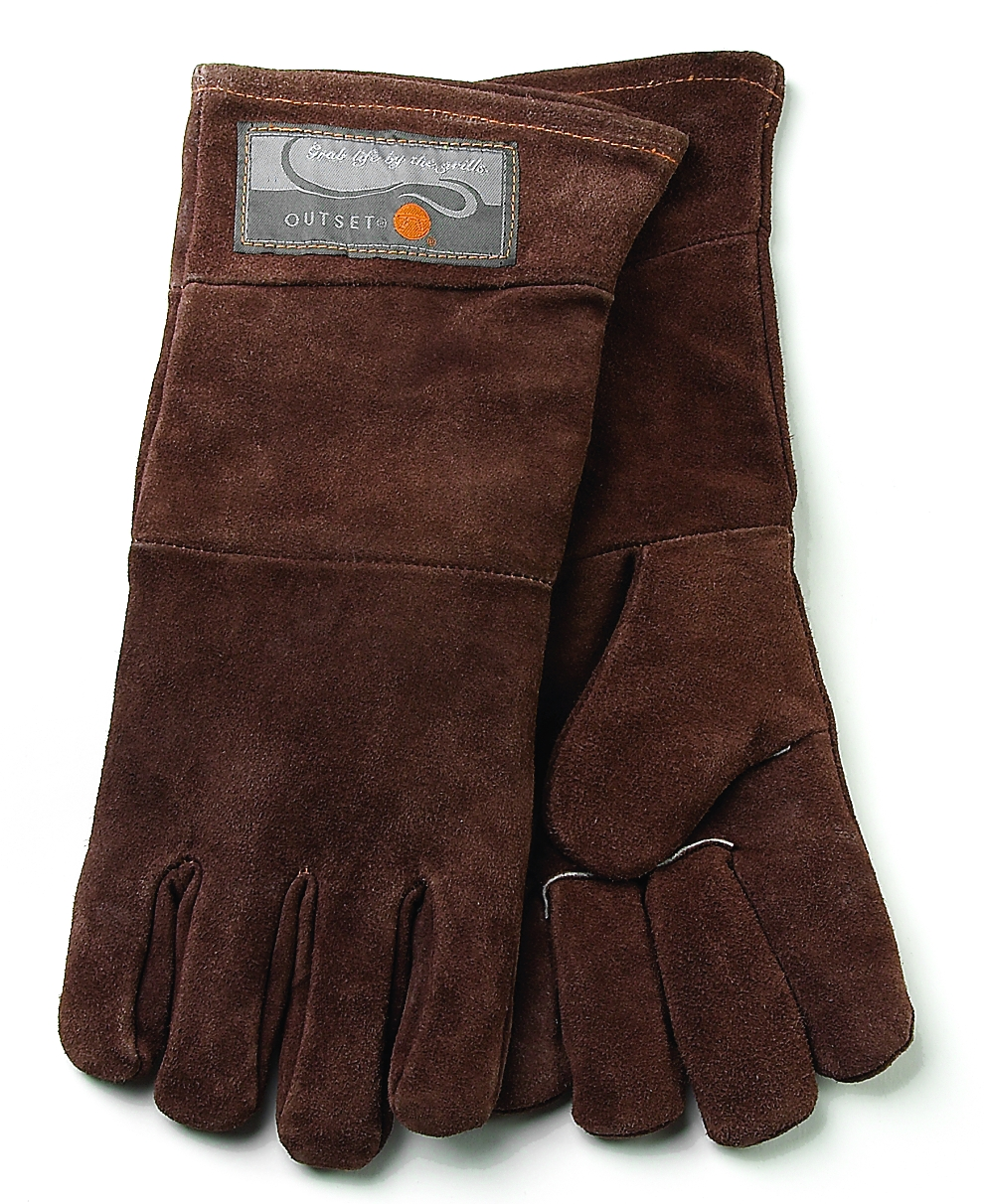 Outset Leather Grill Gloves, Set of 2