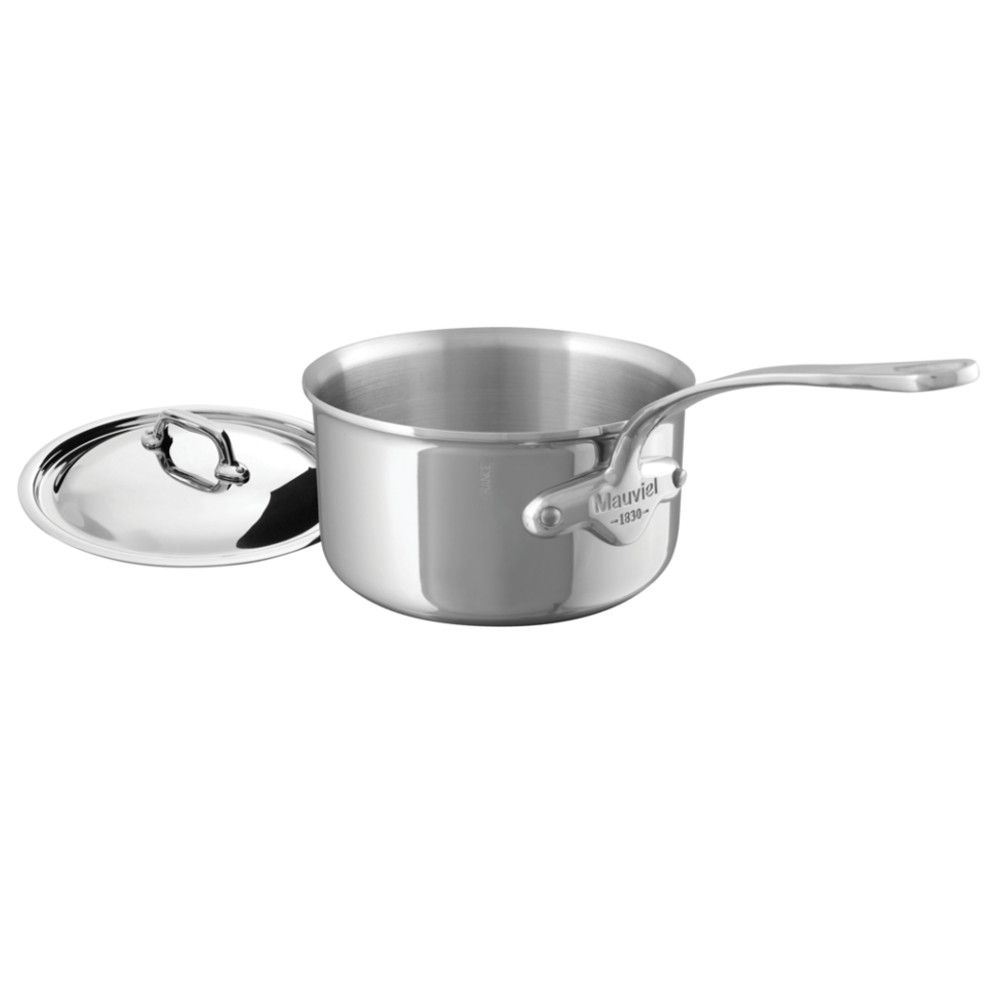 Mauviel M'Cook Multi-Ply Stainless Steel 2.7 Quart Saucepan with Lid