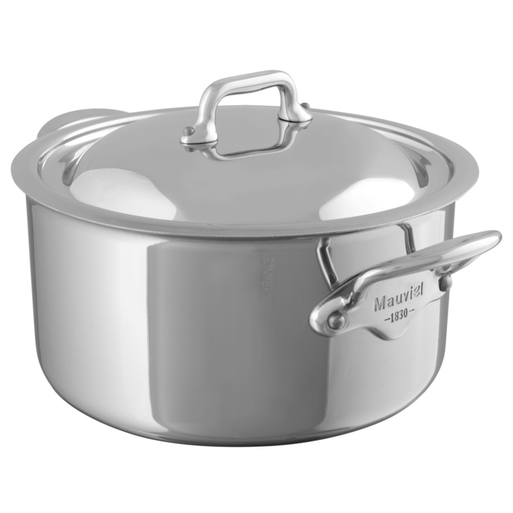 """Stewpan (with stainless steel lid) 24cm/9.5"""" 5.8L/6.3qt Cast stainless steel"""
