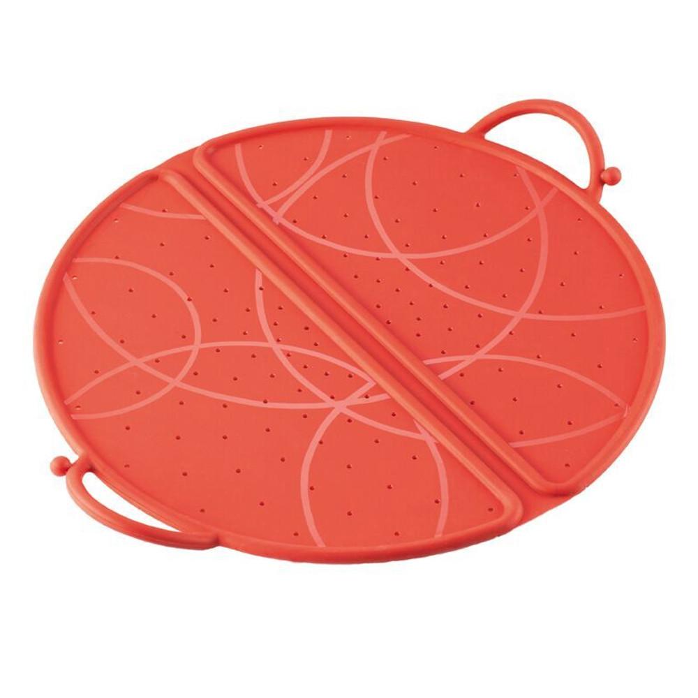 Kuhn Rikon Red Silicone Large 12 Inch Foldable Splatter Guard