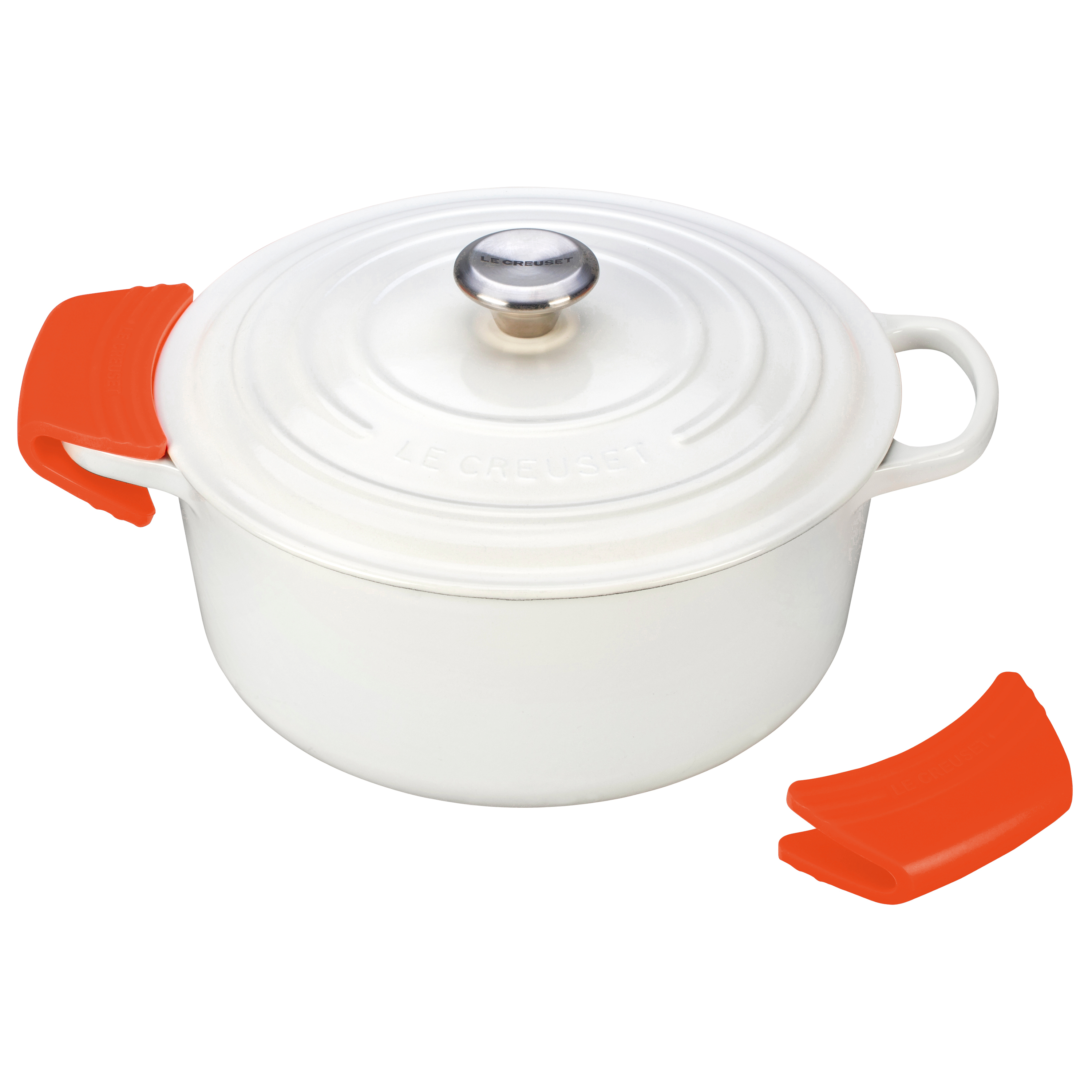 Le Creuset Flame Silicone Pot Grips, Set of 2