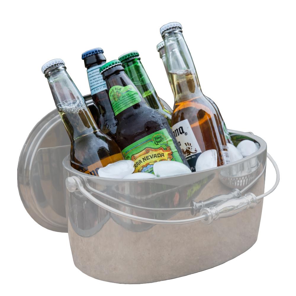 "Crafthouse SS Ice Bucket w/Lid 12x5.25"" (30x13cm)"