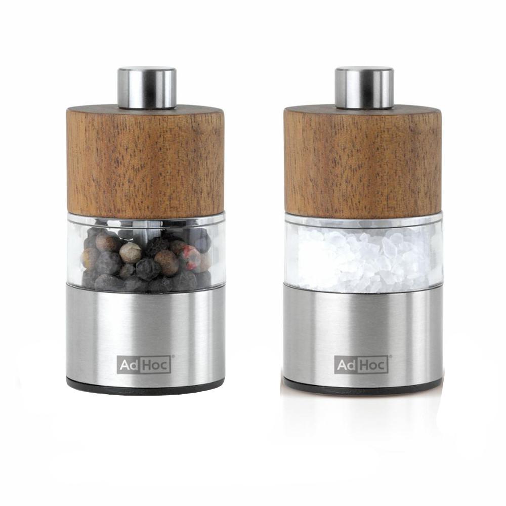 """DAVID S&P Mini-Mill Set 1.3x2.4""""/3x6cm Acacia Wood"""
