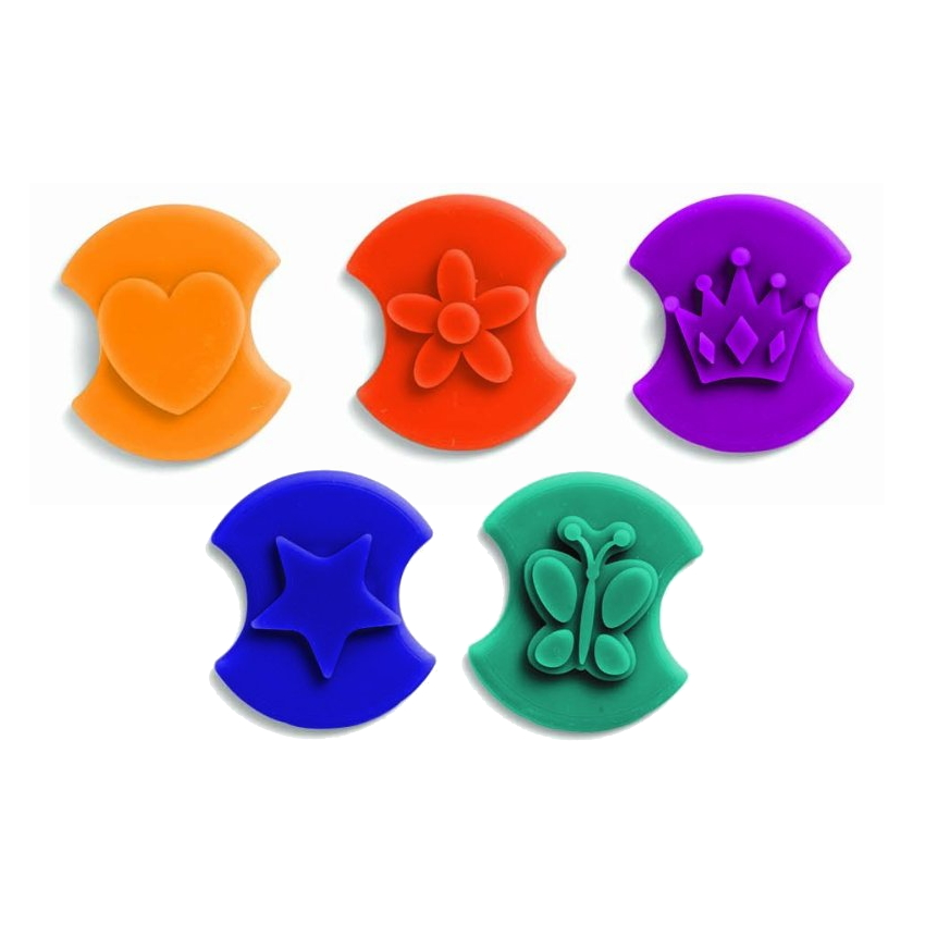 Chef'N Cookie Stamps 5 Piece Assorted Shape Cookie Cutter Set