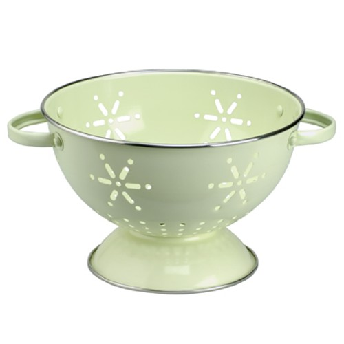 Typhoon Vintage Green Enameled Steel Colander