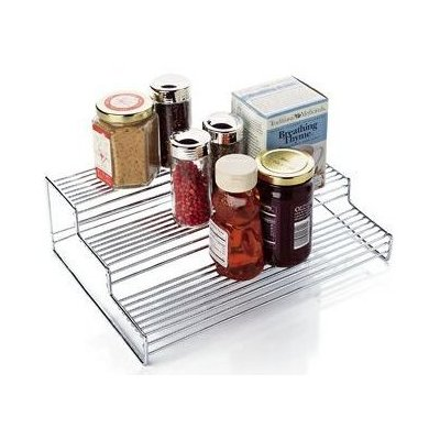 3 Tier Chrome Kitchen Shelf Organizer