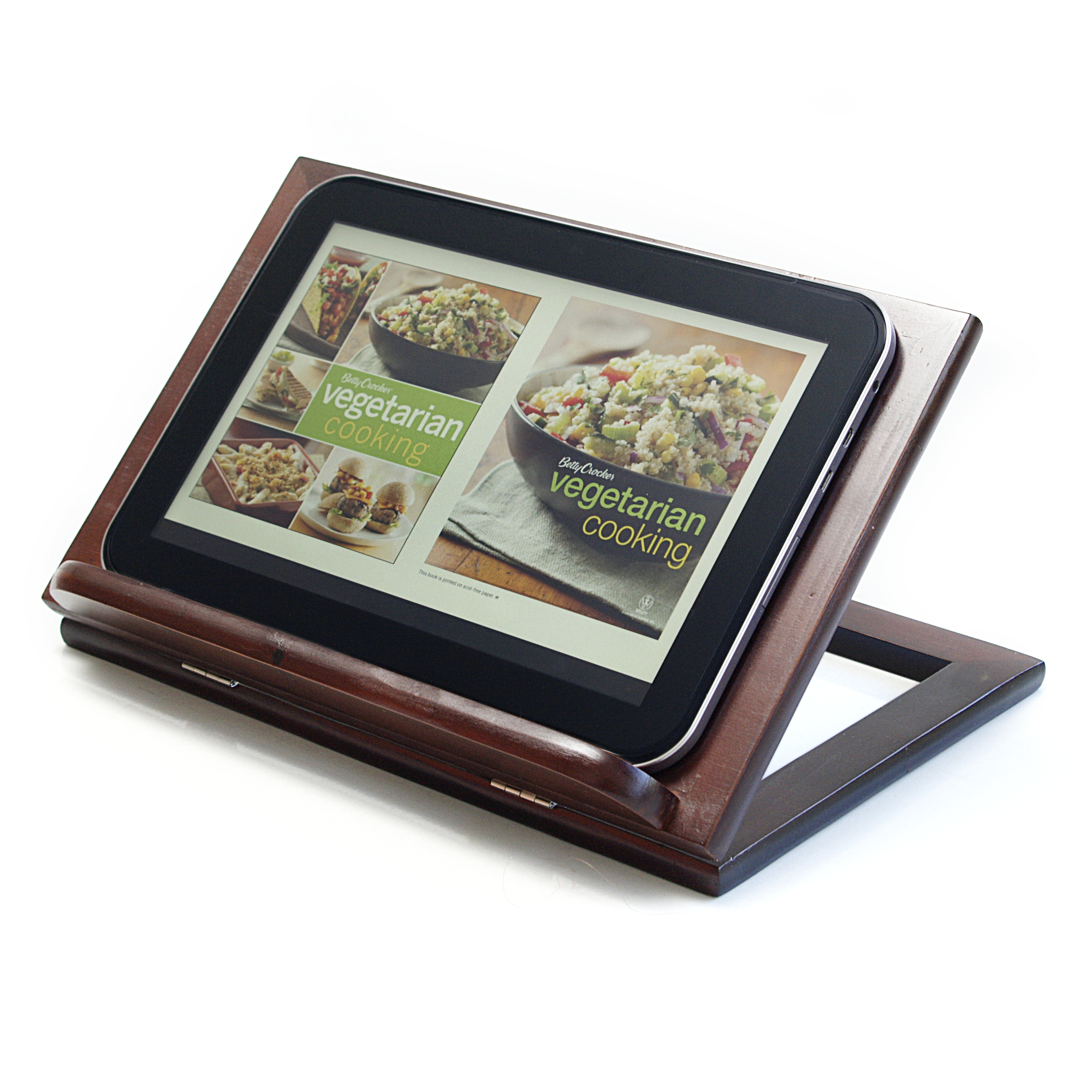Anchor Hocking Intermezzo Dark Brown Wood Cookbook Holder