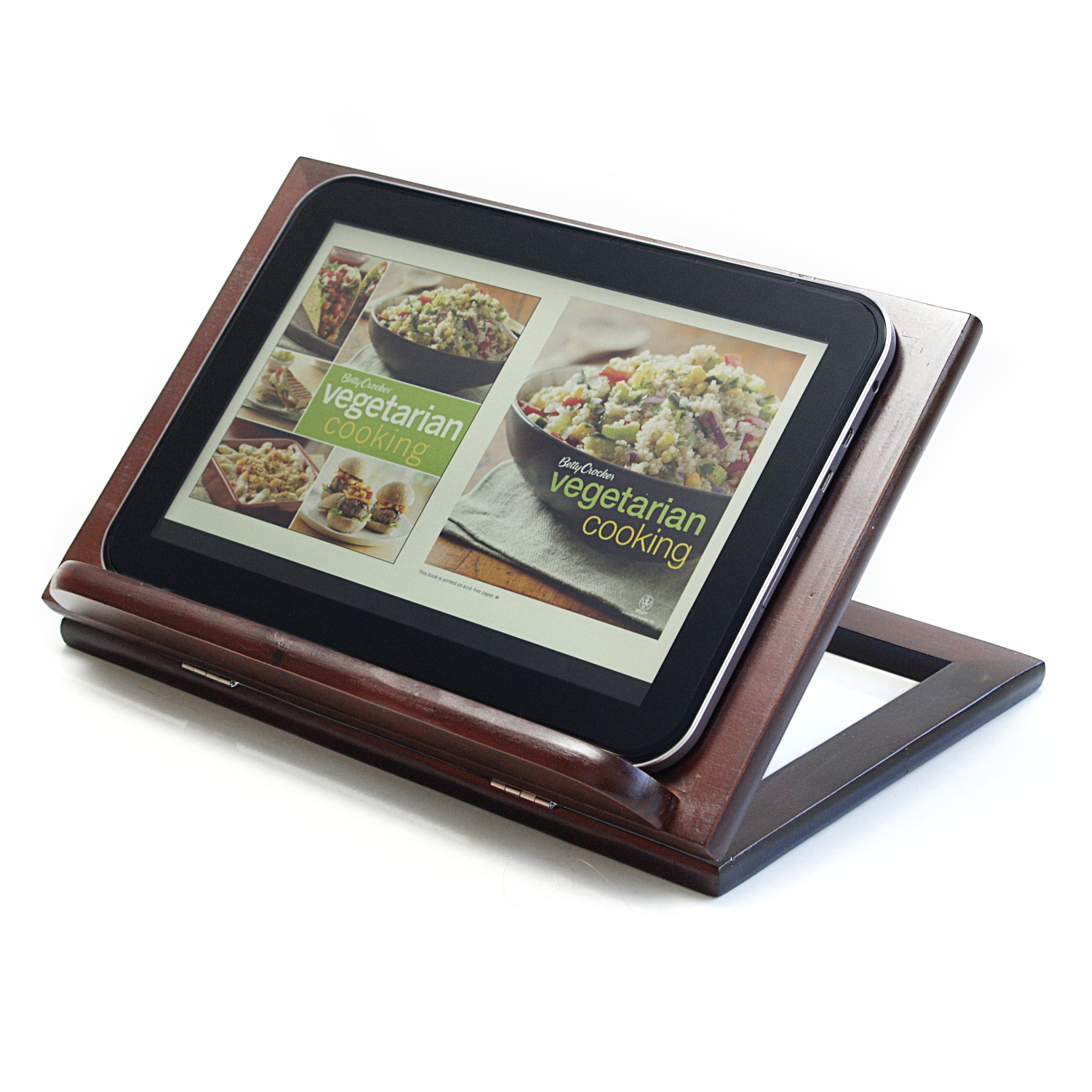Anchor Hocking Intermezzo Dark Brown Wood Cookbook Holder
