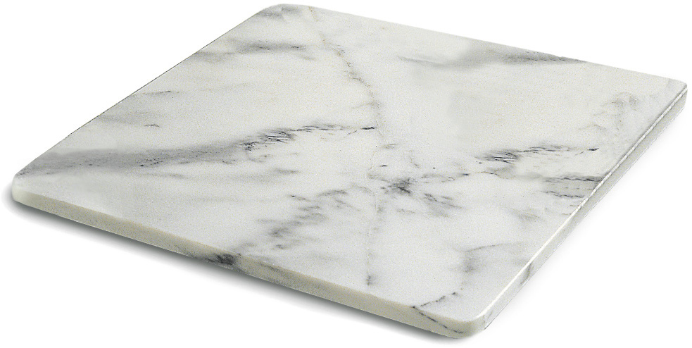 RSVP International Marble Pastry Board, 18 x 18 Inch
