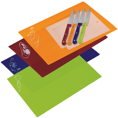 Progressive 10 Piece Chopping Mat and Paring Knife Set