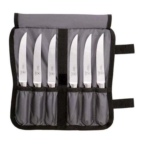 Mercer Genesis Stainless Steel Serrated Forged 7 Piece Steak Knife Set