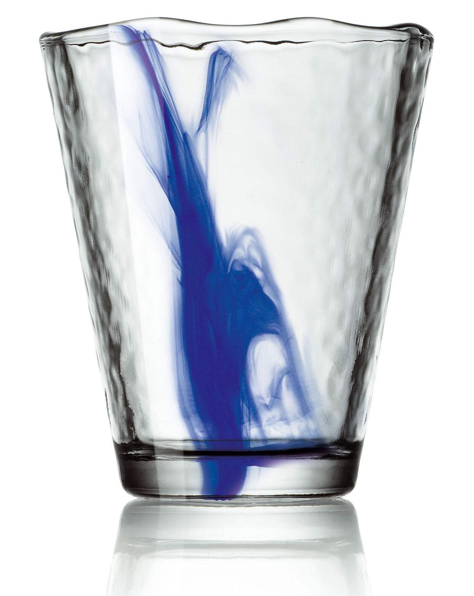 Bormioli Rocco Murano Bibita Cobalt Blue Glass, Set of 4