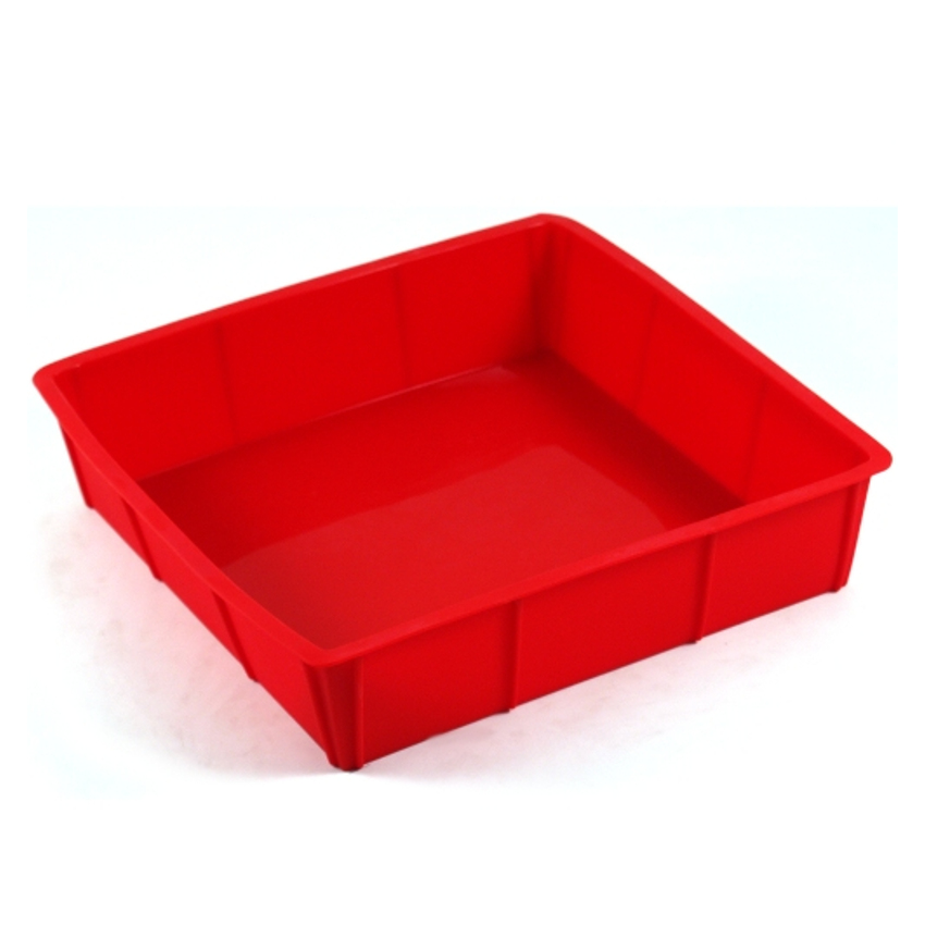 Cook Essentials Red Silicone 9 Inch Square Cake Pan