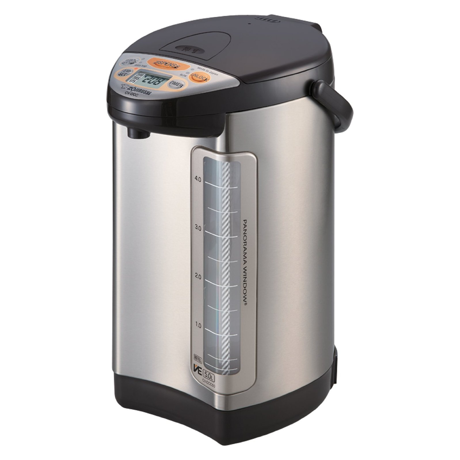 Zojirushi VE Hybrid Stainless Steel and Dark Brown 5 Liter Water Boiler and Warmer