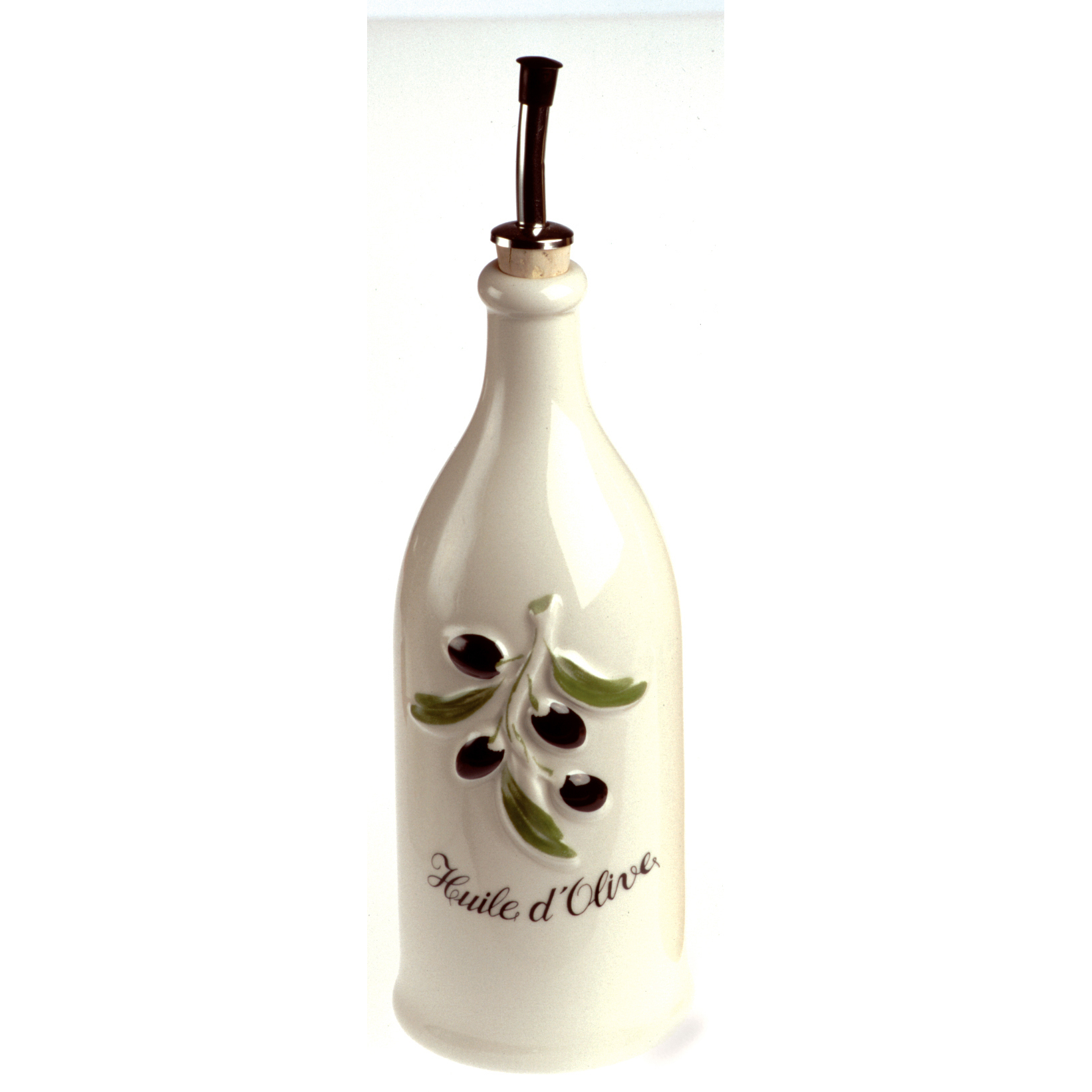 Revol Grands Classiques Cream Porcelain La Provence Olive Oil Bottle, 26.5 Ounce