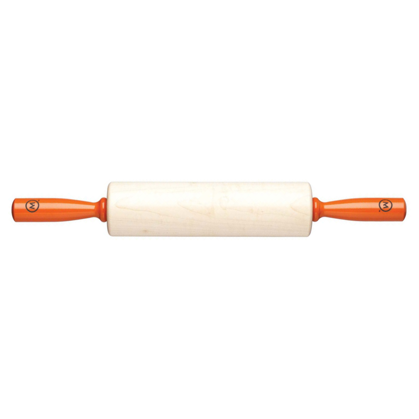 Fletcher's Mill Mario Batali Maple 10 Inch Rolling Pin with Orange Handles