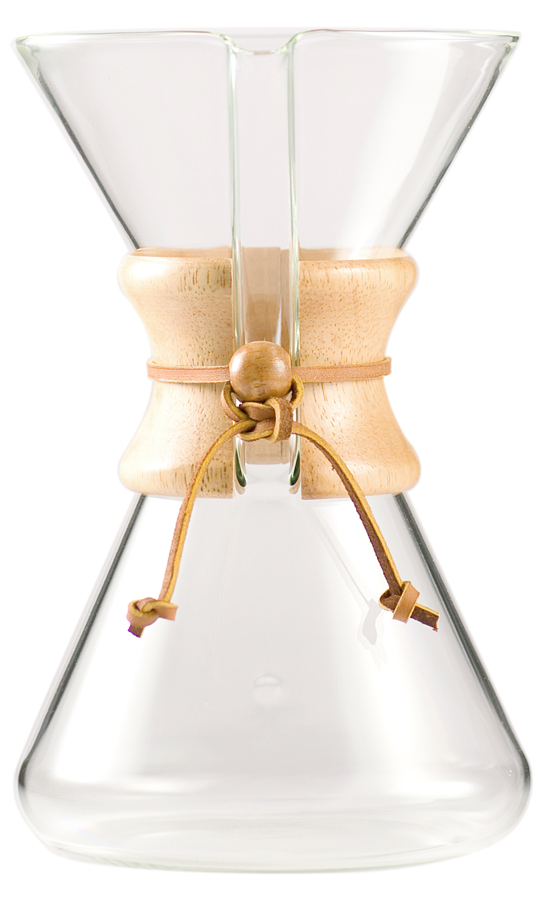 Chemex Hand Blown Glass Coffee Maker with Wood Collar and Tie, 40 Ounce