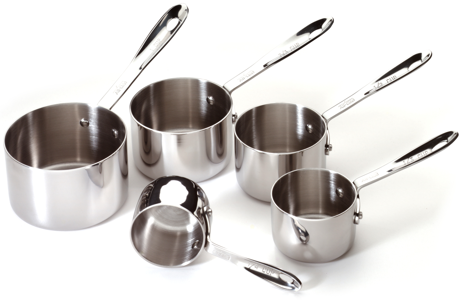 All-Clad Stainless Steel 5 Piece Measuring Cup Set