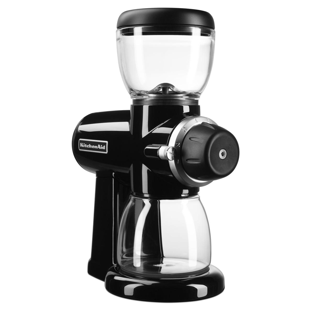 KitchenAid Onyx Black 7 Ounce Burr Coffee Bean Grinder