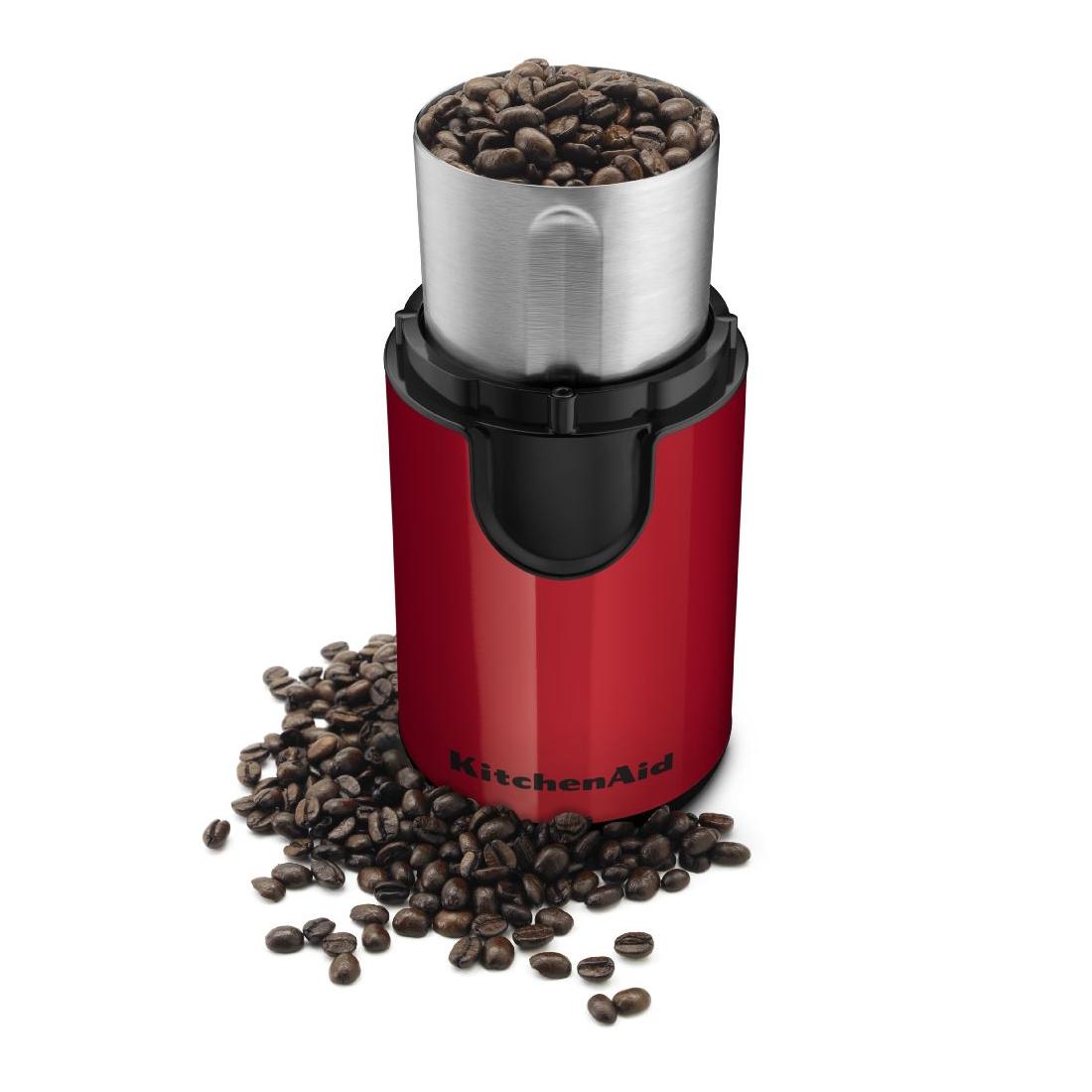 KitchenAid Stainless Steel Blade Empire Red Coffee Grinder