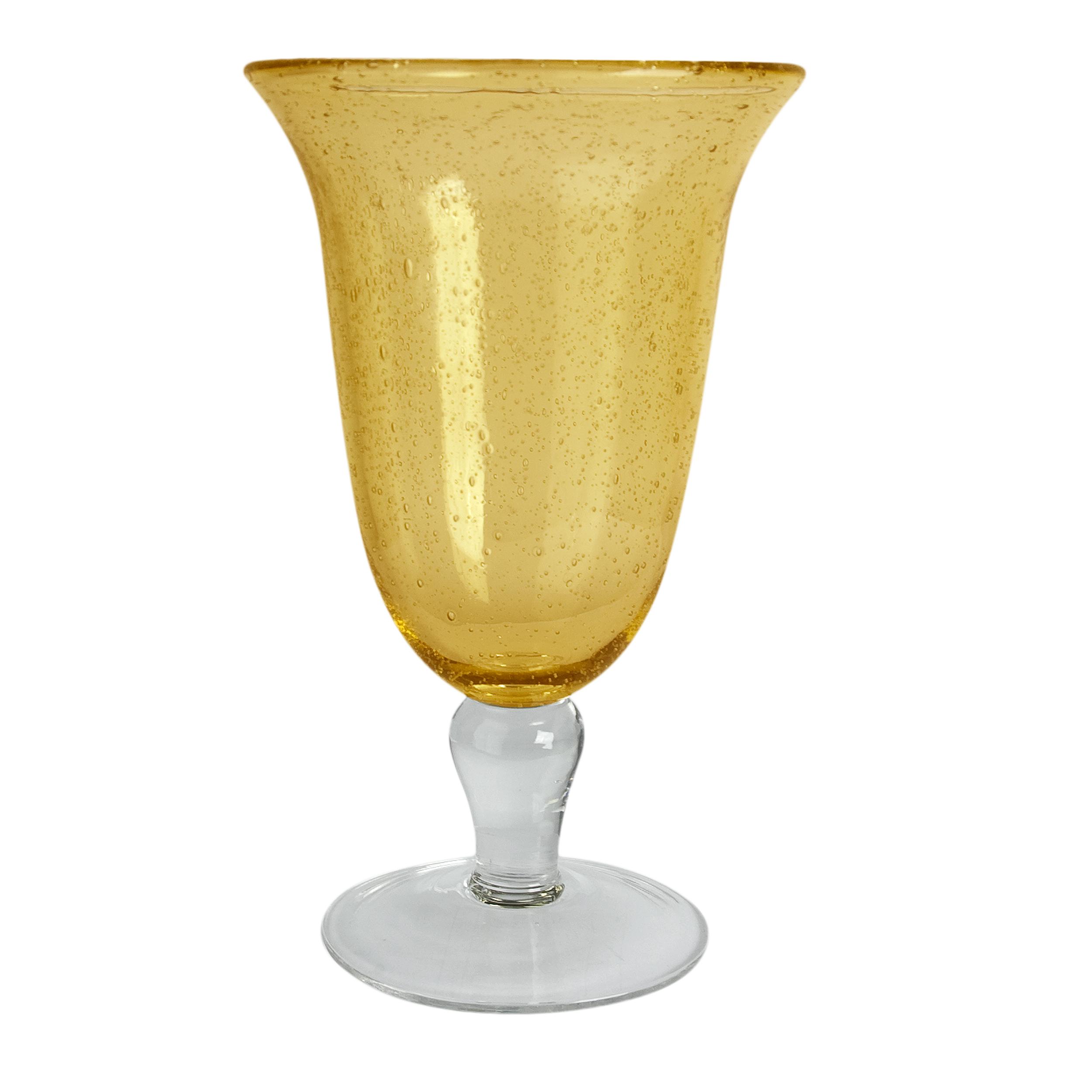 Artland Iris Citrine 18 Ounce Footed Ice Tea Glass
