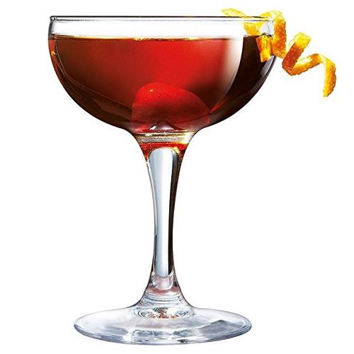 Luminarc Bar Craft 5.5 Ounce Coupe Cocktail Glass, Set of 4