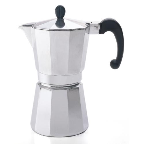 Bonjour Polished Aluminum  3 Cup Stovetop Espresso Maker