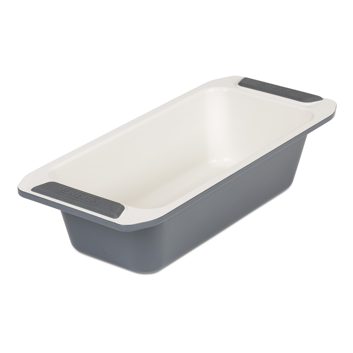 Viking Cream and Gray Coated Nonstick Ceramic 10 Inch Loaf Pan