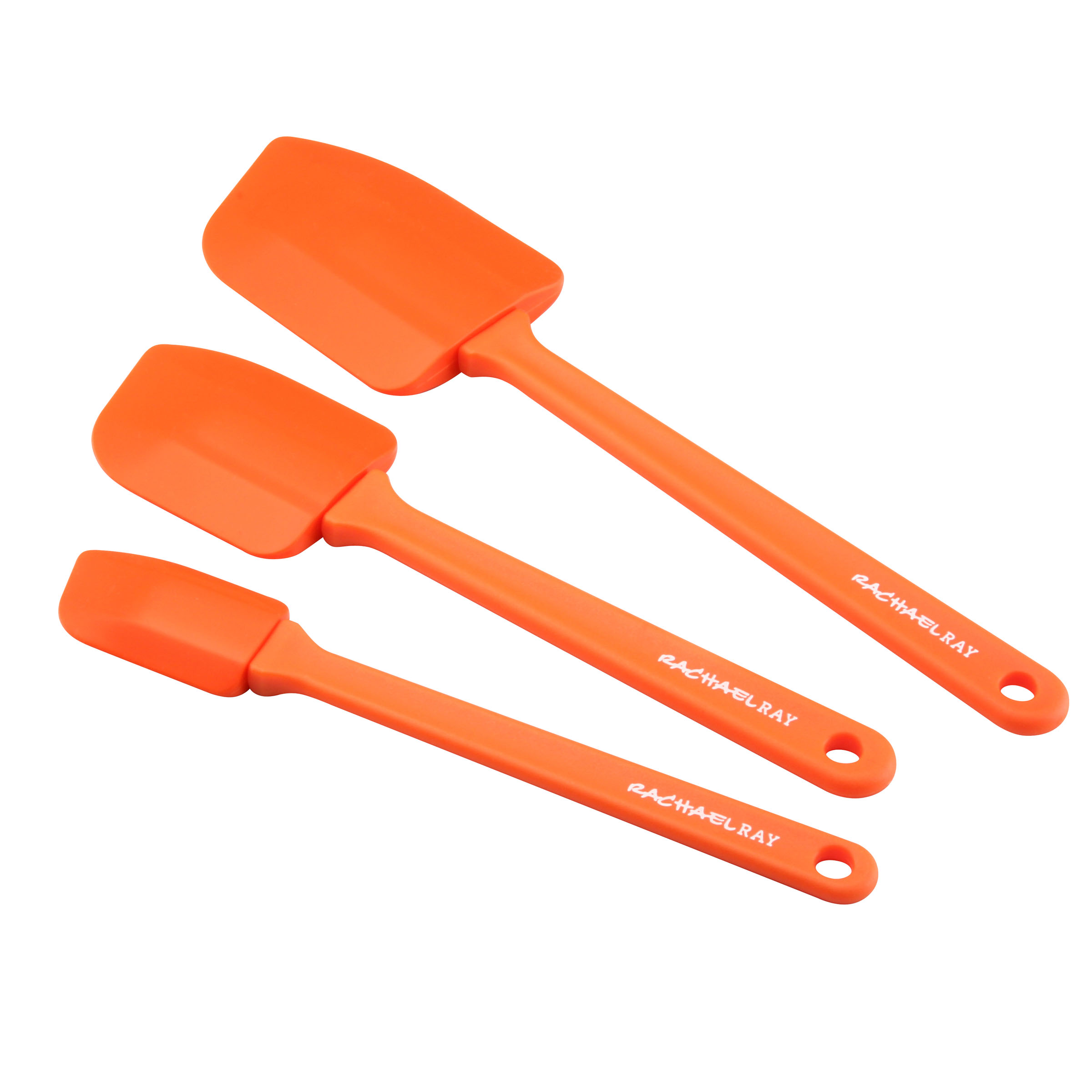 Rachael Ray Orange Silicone 3 Piece Spatula Set
