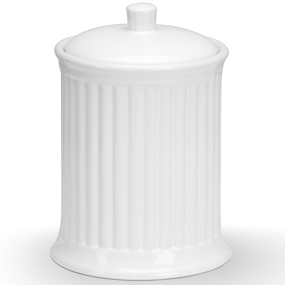 Omniware Simsbury White Stoneware Extra Large Canister