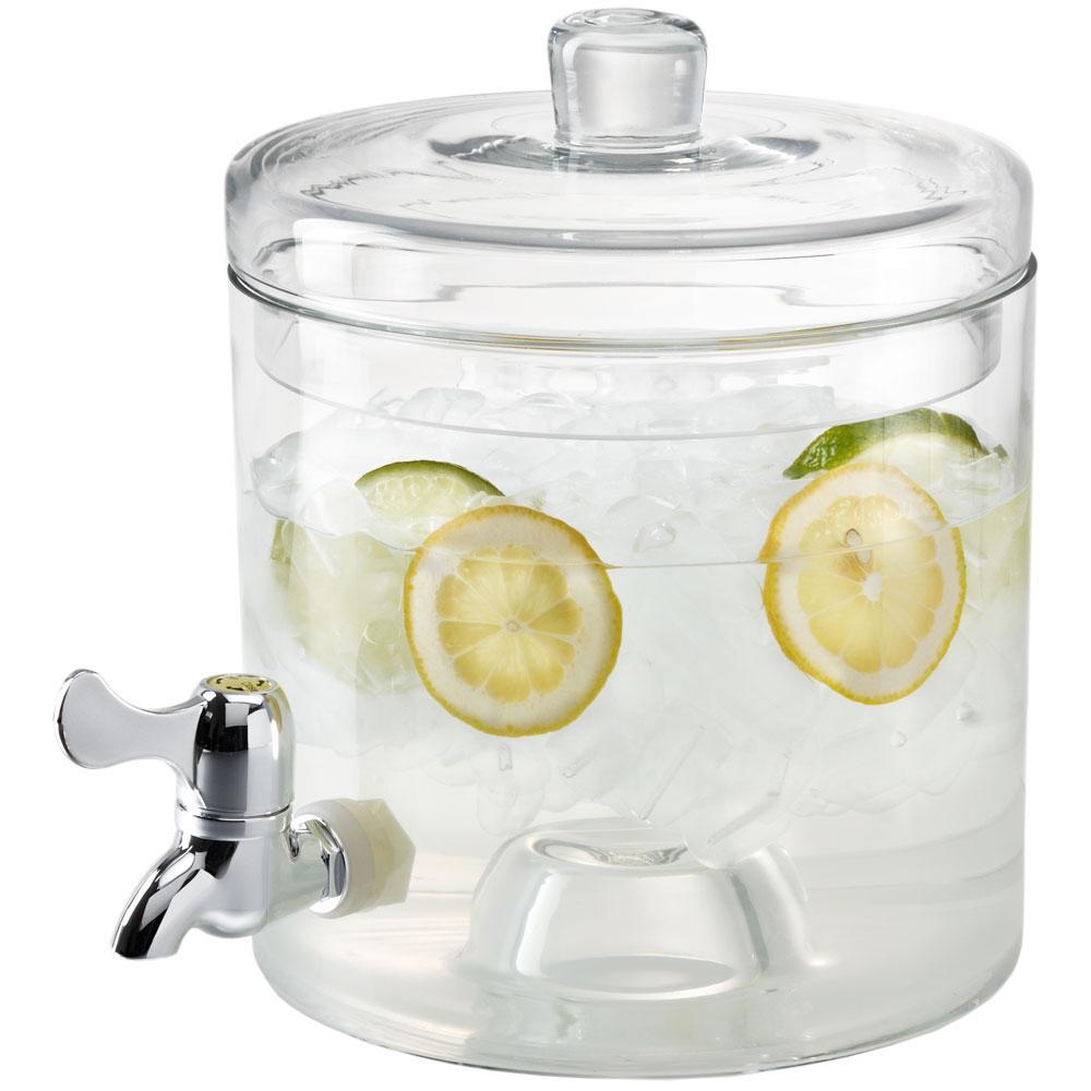 Artland Simplicity 2 Part Crystal Beverage Dispenser with Lid, 2 Gallon