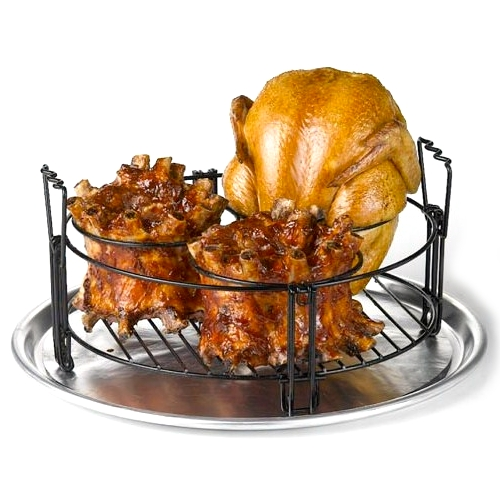 Nifty Home Products Round Non-Stick Barbecue Chicken and Rib RackNifty