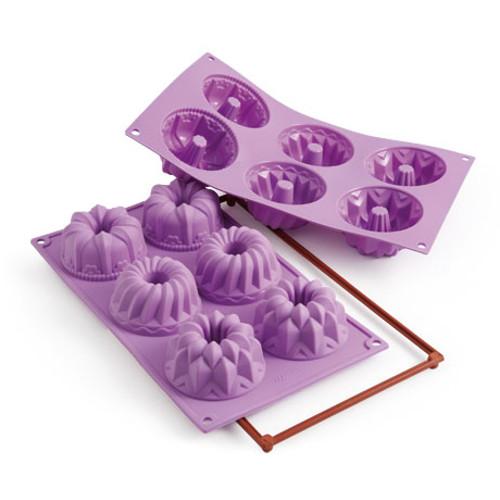 Silikomart Fancy and Function Fantasy Purple Silicone Multi Cake Pan