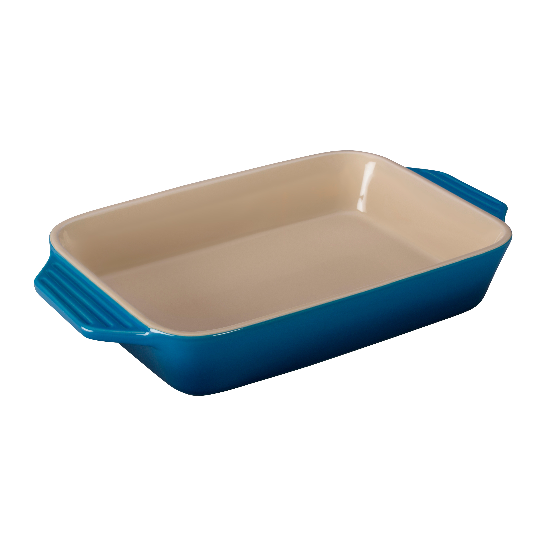 Le Creuset Marseille Blue Stoneware Rectangular Baking Dish, 3.15 Quart