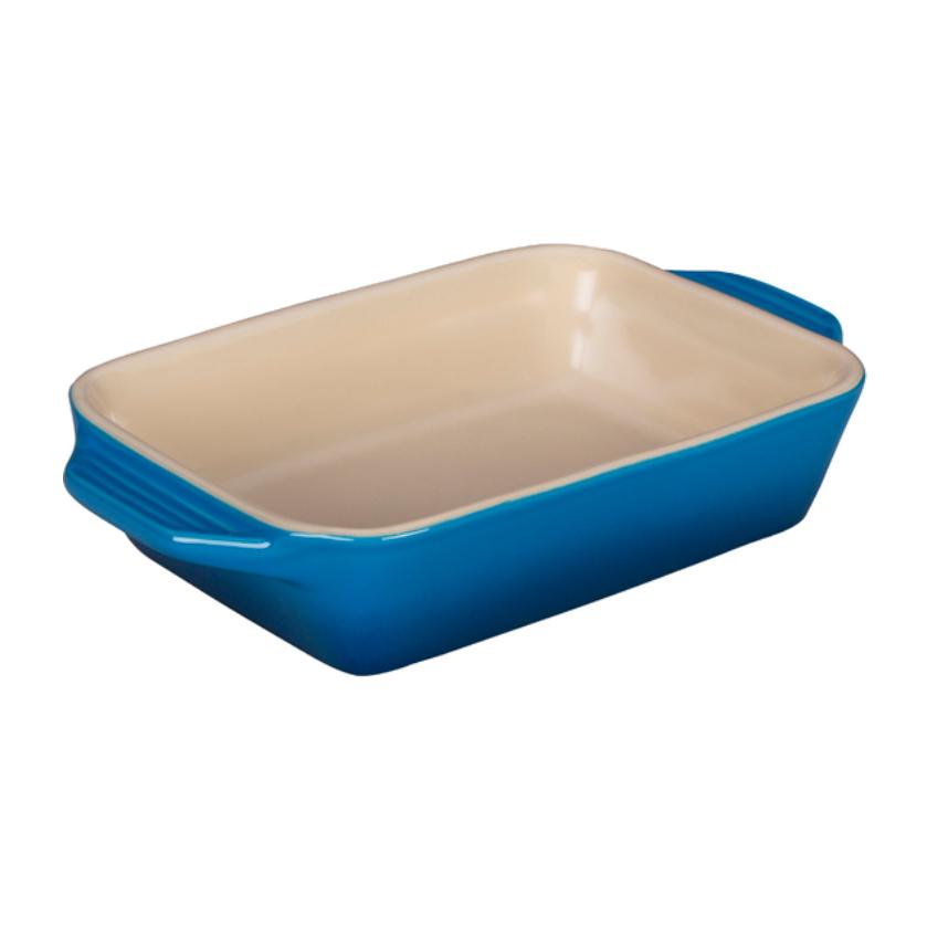 Le Creuset Marseille Blue Stoneware Rectangular Baking Dish, 22 Ounce