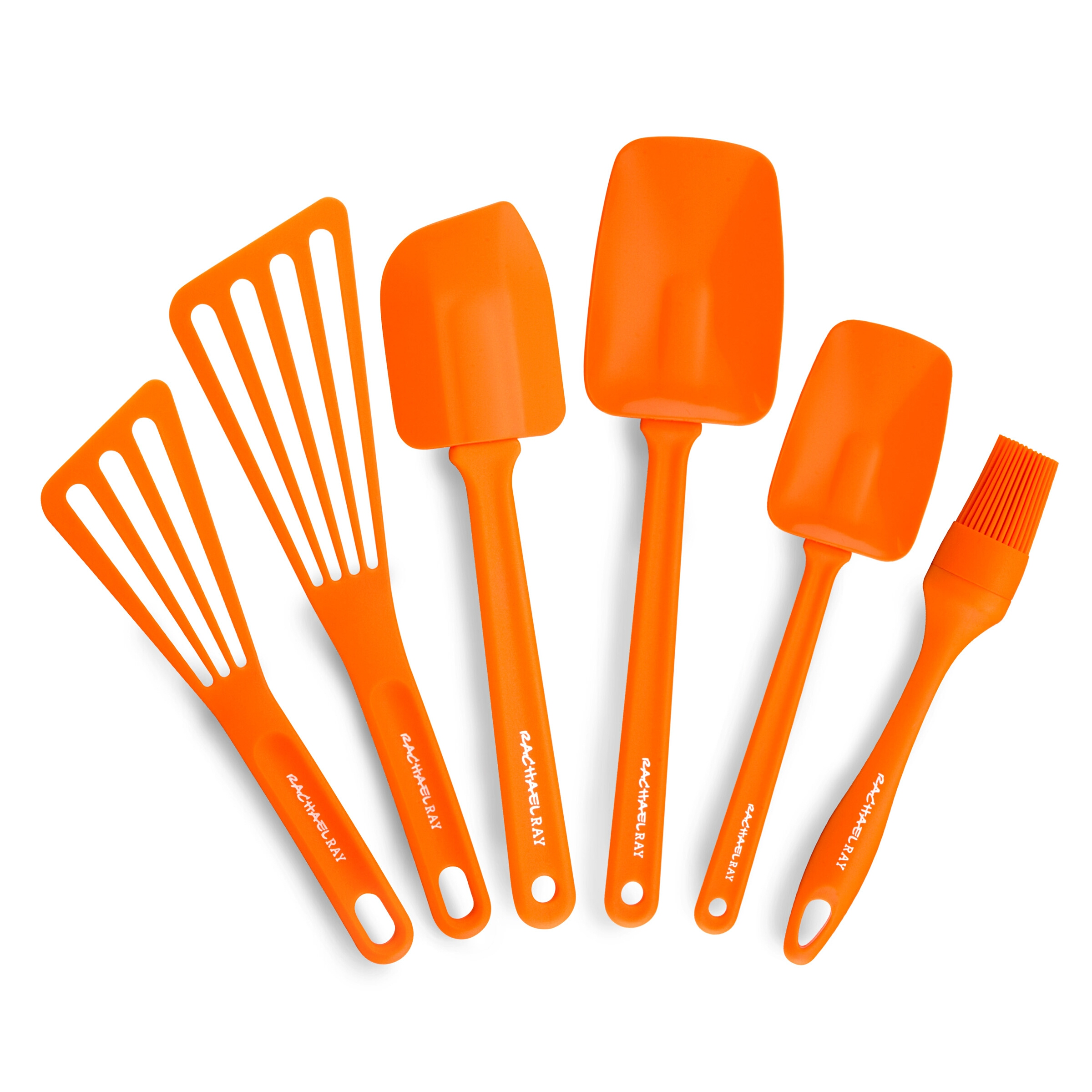 Rachael Ray 6-Piece Cooking Utensil Set Orange