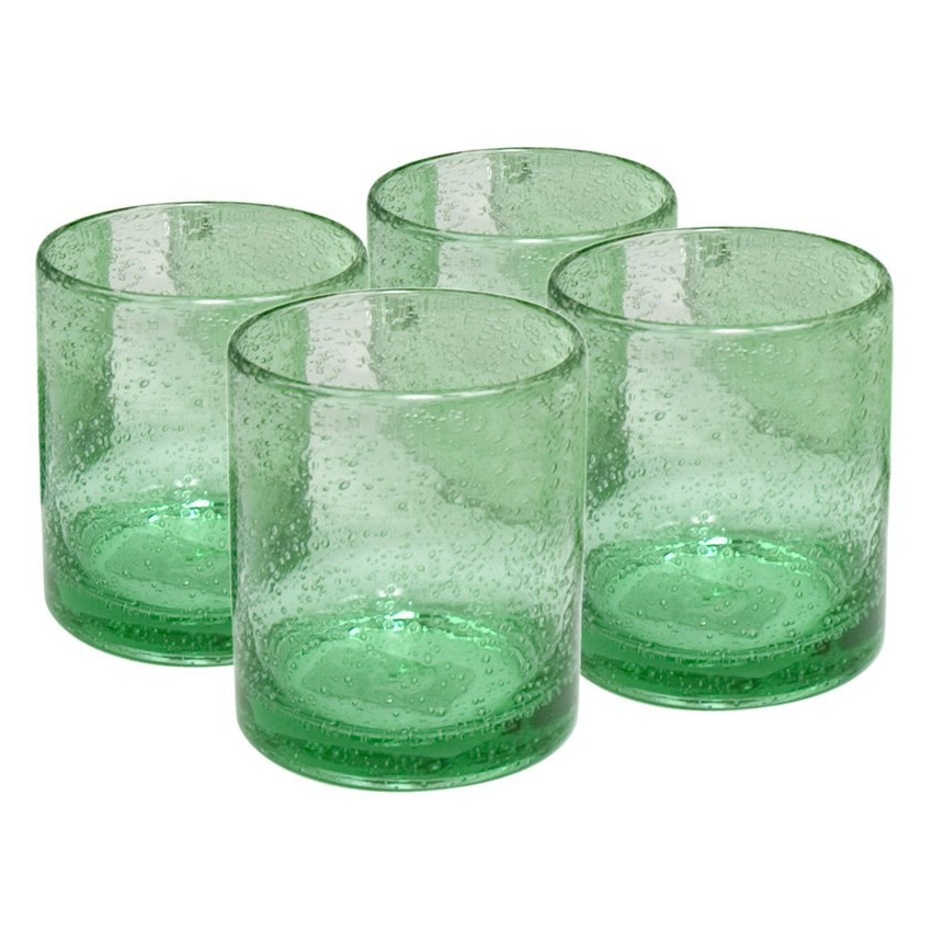 Artland Iris Light Green 14 Ounce Double Old Fashioned Glass